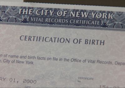 Birth Certificate NYC