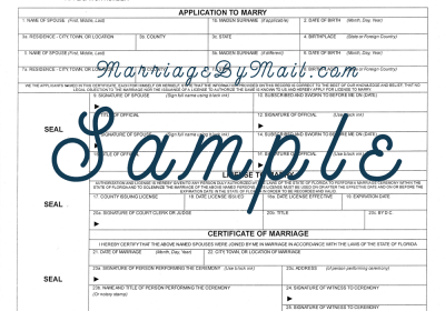 Florida Marriage Certificate Apostille